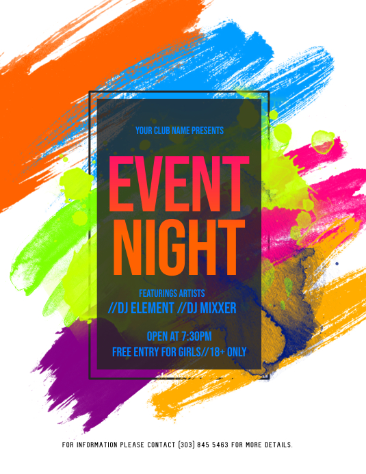 Event Night Flyer Folder (US Letter) template