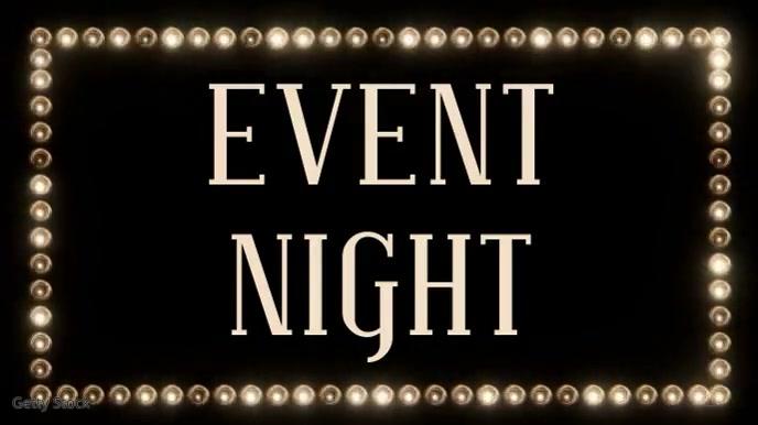 Event Night Social Media Instagram Video Tampilan Digital (16:9) template