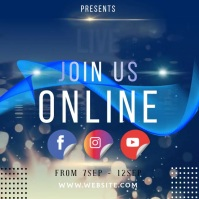 EVENT ONLINE INSTAGRAM POST TEMPLATE
