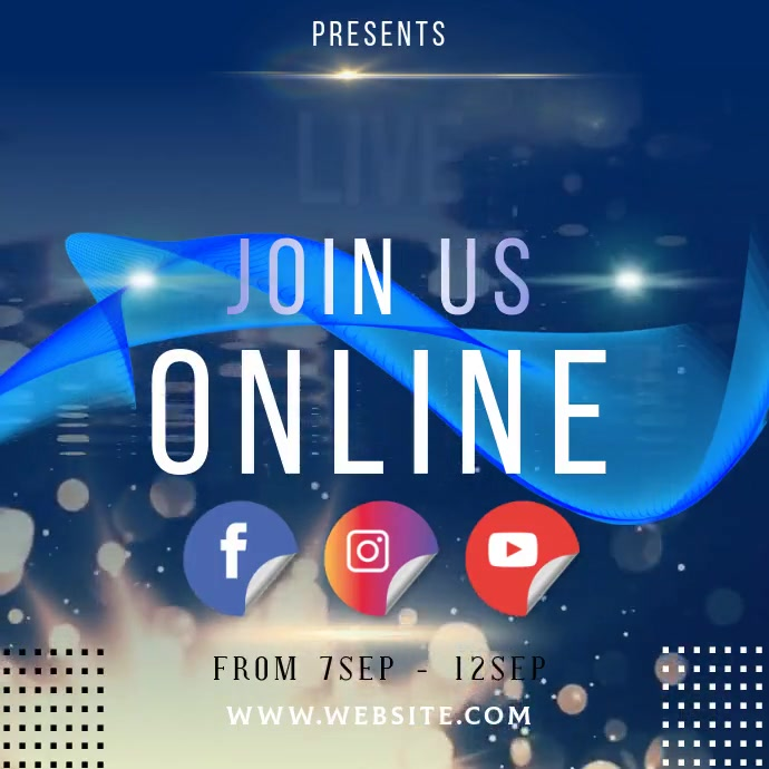 EVENT ONLINE INSTAGRAM POST TEMPLATE Logotipo