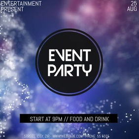Event party event video flyer template