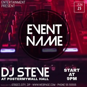 Event party video flyer template