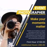 Event Photographer Slideshow Ad Cuadrado (1:1) template