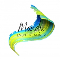 Event Planner Colorful Brush Logo Logótipo template