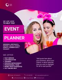 Event Planner Flyer Template Volante (Carta US)