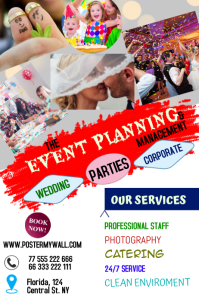 EVENT PLANNING Poster template