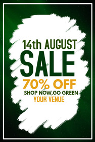 event poster,14th august day sale,Retail post