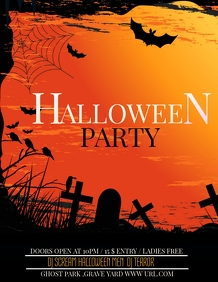 Event poster,Halloween party Flyer