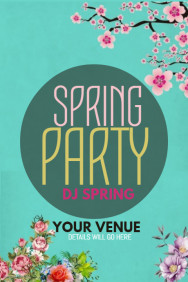 event poster ,party templates,Spring templates