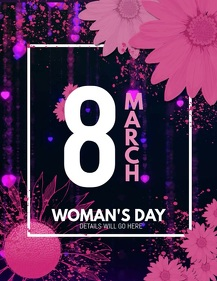 event poster ,woman day templates