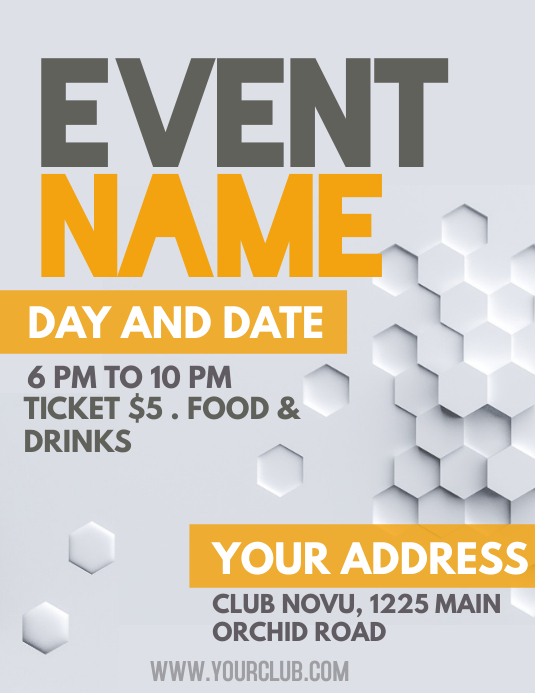 Event poster template, small business flyer, upcoming event