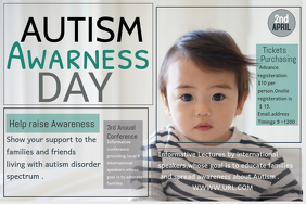 Event poster template,Autism awareness templates