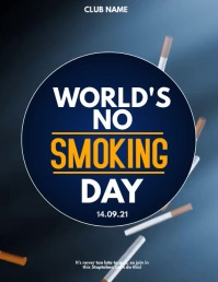 Event poster template,Campaign poster, no tobacco day