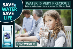 Event poster template,Campaign poster, Water day flyers