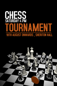 Event poster template,Chess Templates,Game poster