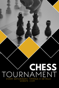 Event poster template,chess tournament poster template