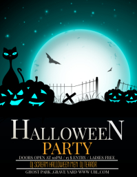 Event poster template,Halloween party Flyer