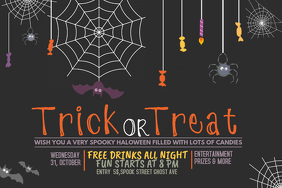 Event poster template,Party template,Halloween party Flyer