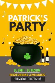 Event poster template,Party template,st.patricks template