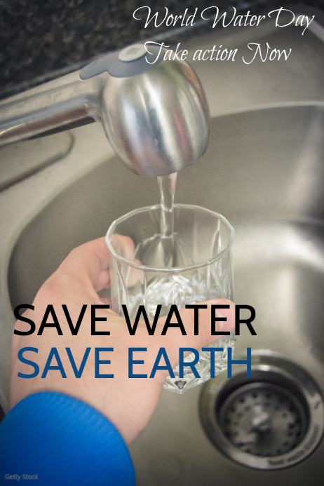 Event Poster Template Save Water Day Template Postermywall