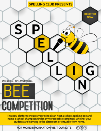 Event poster template,spelling bee competition,school poster