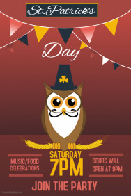 Event poster template,St Patrick's day templates