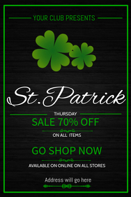 Event poster template,St.patrick's poster template
