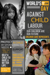 Event poster template,Worlds day against child labour