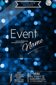 event poster template ,party template, celebrations