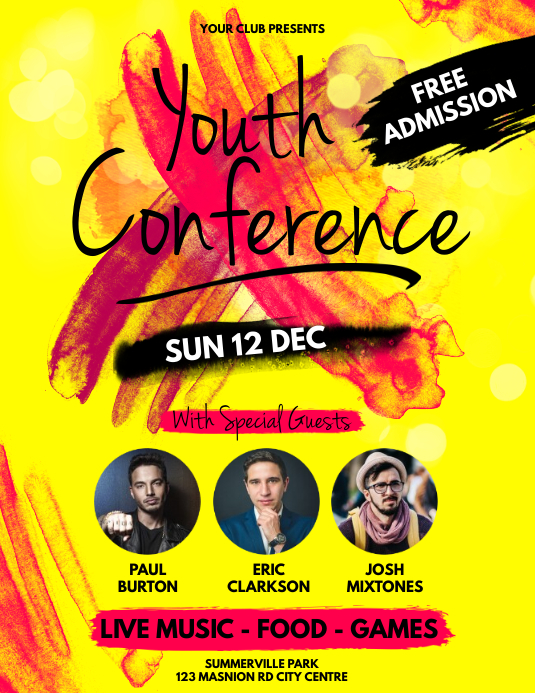 Youth Conference Flyer Template  Postermywall