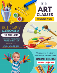 Event poster template,art classes templates