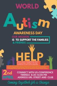 Event poster template,Autism awareness templates,Health