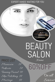 Event poster template,beautician marketing poster template