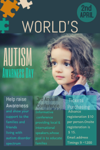 Event poster template,Campaign poster, Autism flyers