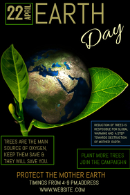 Event poster template,Campaign poster, Earth day