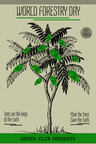 Event poster template,Campaign poster, forest day flyers