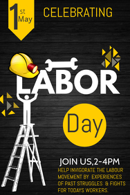 Event poster template,Campaign poster, Labors day