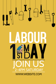 Event poster template,Campaign poster, Labors day poster