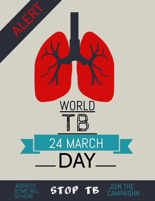 Event poster template,Campaign poster, Tuberculosis day | PosterMyWall