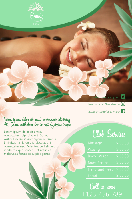 Event poster template,salon poster templates,beautician