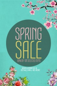 Event poster template,spring poster templates