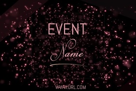 event poster template video,party, celebrations