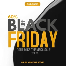 Event posters,Black Friday posters,retail Square (1:1) template