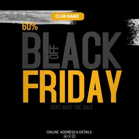 Black Friday ,retail,Mega sale 方形(1:1) template