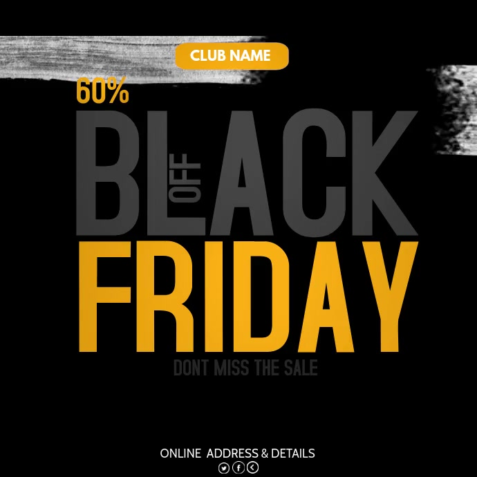 Black Friday ,retail,Mega sale Kvadrat (1:1) template