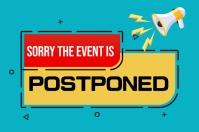 Event postponed,event Rótulo template