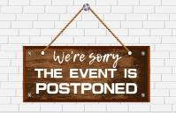 Event postponed,event Tabloïd template