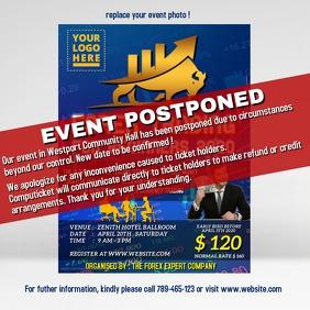 Event postponed announcement design template