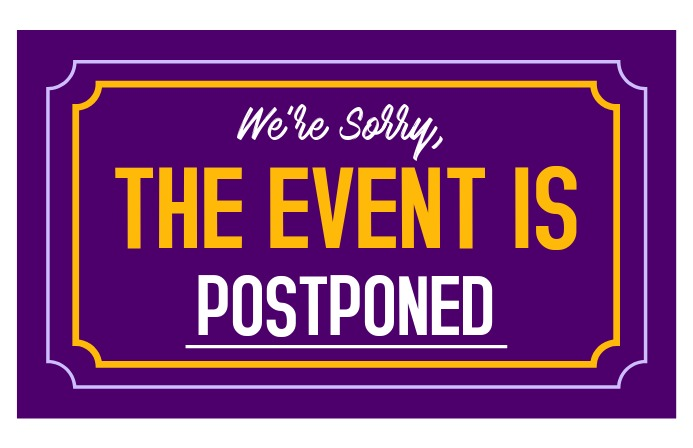 Event Postponed Sign / Event Canceled Sign Tabloid template