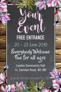 Event Rustic Poster Template
